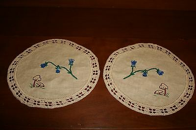 Two  Round  Very Pretty  Simple  Doilies