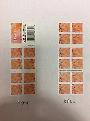 """""""Yellow Peace Roses"""" (1) book of 20 USPS FIRST CLASS FOREVER POSTAGE STAMPS"""