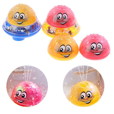 Kids Infant Bath Toys Baby Electric Induction Sprinkler Ball with Light Music