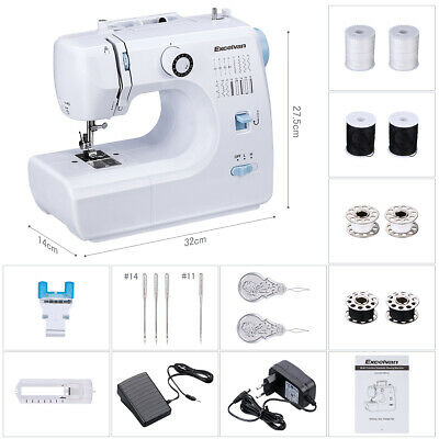 Excelvan Mini Portable Home Foot Pedal Sewing Machine with Accessories Best Gift