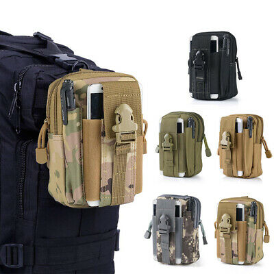 Tactical Molle Pouch Belt Waist Pack Bag Military Nylon Utility Outdoor Belt Bag