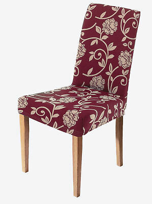 Pack of two jacquard chair seat covers with back - 034813