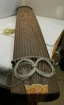 Vintage Wooden Japanese KOTO 13 STRING Kayagum Plucked Stringed Instrument #22
