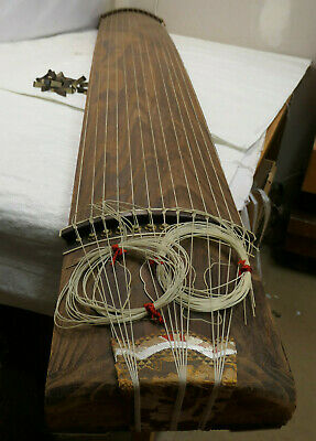 Vintage Wooden Japanese KOTO 13 STRING Kayagum Plucked Stringed Instrument #23