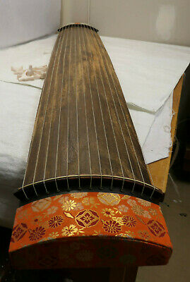 Vintage Wooden Japanese KOTO 13 STRING Kayagum Plucked Stringed Instrument #24