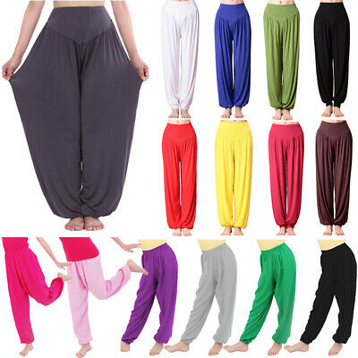 Kids Boy Girl Casual Harem Long Pants Loose Bloomers Genie Yoga Soft Baggy Dance