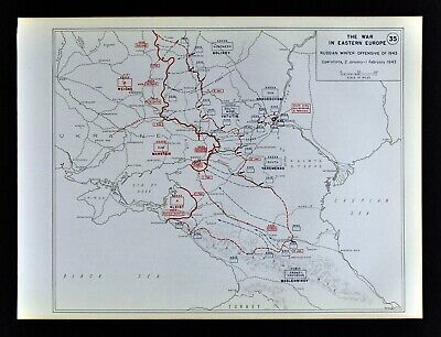 West Point WWII Map Battle of Stalingrad Russian Winter Offensive 1943 Russia
