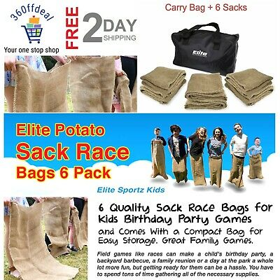 6 Pcs Potato Sack Race Bags Quality Sack Race Bags For Kids Birthday Party Games