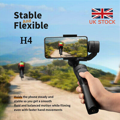 3-Axis Handheld Mobile Phone Gimbal Stabilizer for Smart Phone Action Camera UK