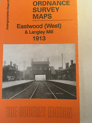 Old Ordnance Survey Map Of Eastwood (West) & Langley Mill 1913