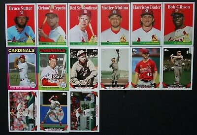 Pre-Sell 2019 Topps Archives St. Louis Cardinals Base Team Set 15 Baseball Cards