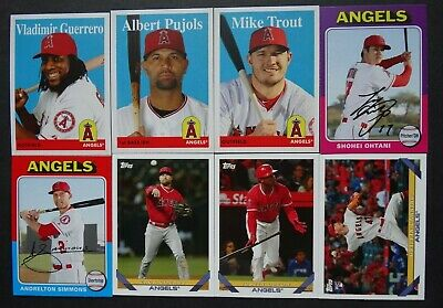 Pre-Sell 2019 Topps Archives Los Angeles Angels Base Team Set 8 Baseball Cards