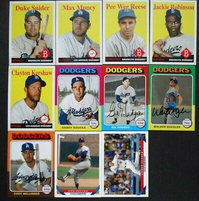 Pre-Sell 2019 Topps Archives Los Angeles Dodgers Base Team Set 11 Baseball Cards