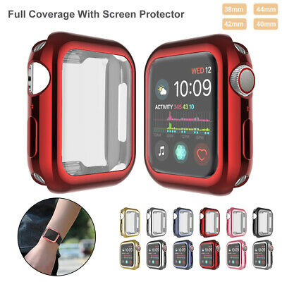 iWatch Apple Watch Series 4 3 2 1 Screen Protector TPU Cover Case 38/40/42/44mm