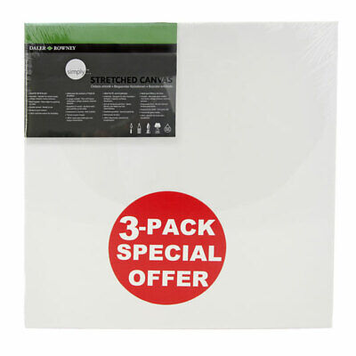 Daler Rowney Simply Canvas Pack of 3 - 40 x 40cm / 16 x 16""
