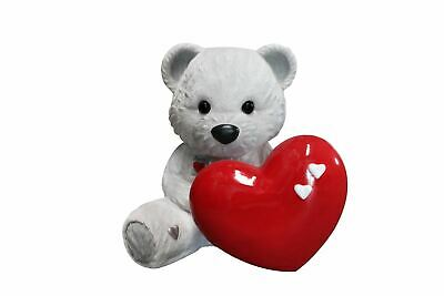 Bear Teddy Love White Over Sized Toy Prop Decor Resin Statue