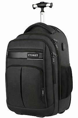 Ytonet Rolling Backpack, Large Waterproof Carry On Wheeled Laptop Backpacks For