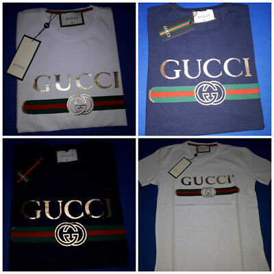 Gucci Mens Cotton Printed Casual 3 Color T-Shirts Nwt