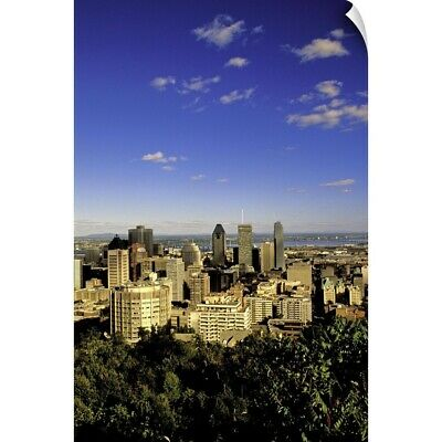 """Canada, Quebec, Montreal. City skyline from Mount Royal Park Observatory"" Wa"