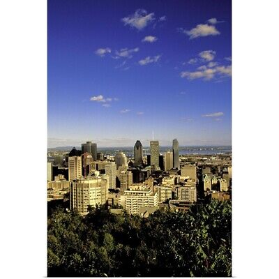 """Canada, Quebec, Montreal. City skyline from Mount Royal Park Observatory"" Po"