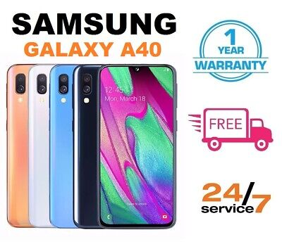New Samsung Galaxy A40 (2019) 64GB Dual SIM 4G Android Smartphone - All Colours