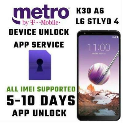 MetroPCS USA Android Device(Unlock App)Service Express Service LG STYLO 4