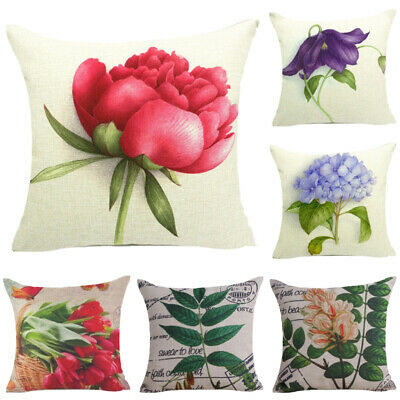 Flower 18in Pillow Cover Floral Pillow Case Car Couch Cushion Cover Home Decor