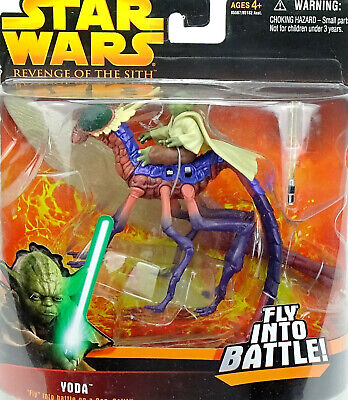 Yoda With Can-Cell Fly Into The Battle Star Wars Revenge Of The Sith 2005 Hasbro