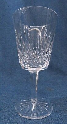 """Waterford Stemware Crystal Lismore Water Goblet 6 7/8"""" Signed"""