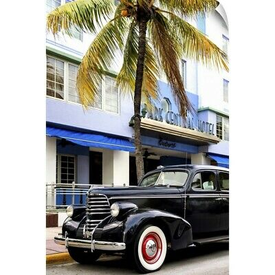 """Classic Antique Car of Art Deco District, Miami"" Wall Decal"