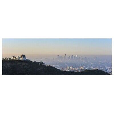 """Los Angeles, California Skyline with the Griffith Observatory - Panoramic"" P"