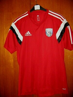 West Bromwich Albion Football Shirt Rare adidas 2014 Red Training Shirt size M