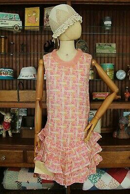 Sweetest Handmade 1920's/30's Semi-Sheer Cotton Floral Dress
