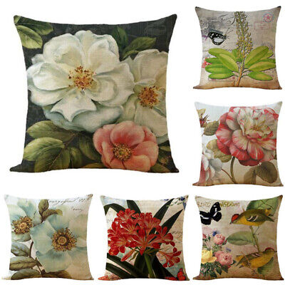 18in Cushion Cover Plant Cotton Linen Home Decorative Pillow Cover Pillow Case