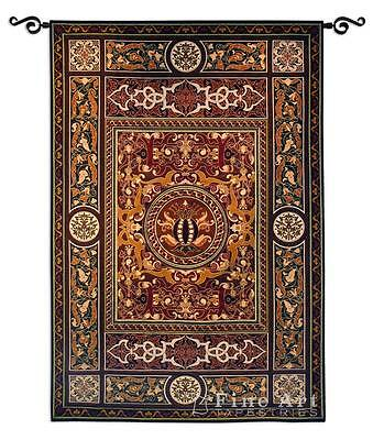 53x75 CHATEAU MEDALLION Tapestry Wall Hanging