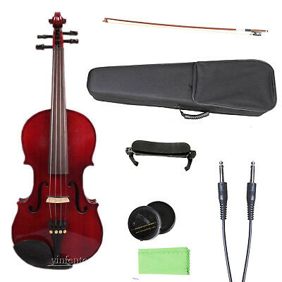 Yinfente 4/4 electric Violin Acoustic Maple Spruce wood Sweet Sound Case Bow