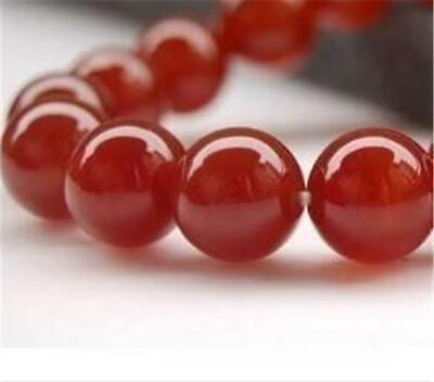 AAA+++ 10mm Natural Red Ruby Gemstone Round Carnelian Loose Beads 15''##QF3441