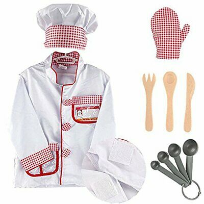 Kids/' Restaurant Cooking Chef Role Play Costume Set 8Psc  Perfect Christmas Gift
