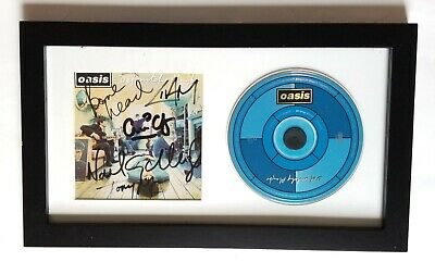 Oasis REAL SIGNED Definitely Maybe CD Framed Display Noel & Liam Gallagher +3