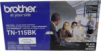 Brother TN-115BK TN115BK Toner Cartridge GENUINE NEW!