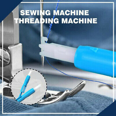 Hot Sewing Machine Insertion Needle Threader Applicator Handle Thread Tool CA RR