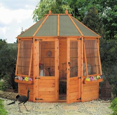 Mercia Octagonal Greenhouse - 8 x 6ft.
