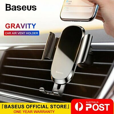 Baseus Universal Car Phone Holder Gravity Air Vent Mount for iPhone Samsung LG