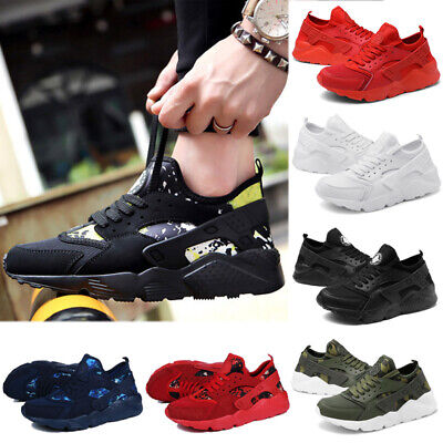 Mens Huarache Running Trainers Casual Walking Gym Sports Shoes Lace Up Sneakers