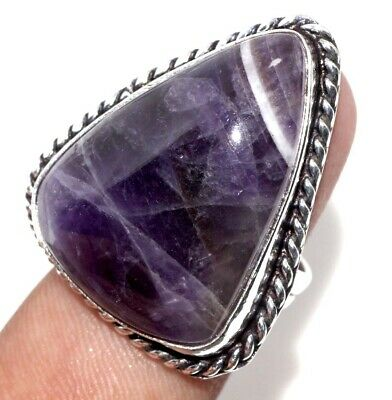 E7766 Amethyst Lace 925 Sterling Silver Plated Ring Us 9.5