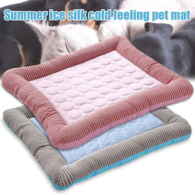 Dog Cooling Mat Pet Cat Chilly Non-Toxic Summer Soft Cool Bed Pad Cushion Indoor
