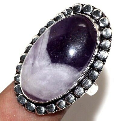 D28071 Amethyst Lace 925 Sterling Silver Plated Ring Us 9.5
