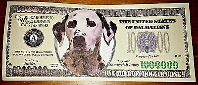 Dalmation Novelty Bank Note Bill Dog Puppy Pets Black & White Doggie Bones Nice