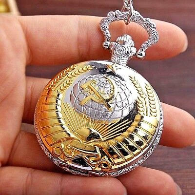 Russia Pocket Watch Pendant World Cup 2018 Retro Fob Soviet World War I II 2 USR