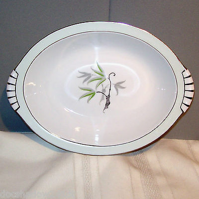 """Narumi SOUTHWIND 11"""" Oval Vegetable Bowl White Porcelain China made in Japan"""